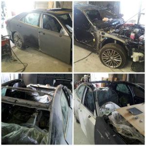 Toyota Crown восстановление после аварии